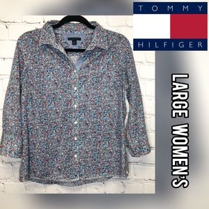 Tommy Hilfiger button up floral top